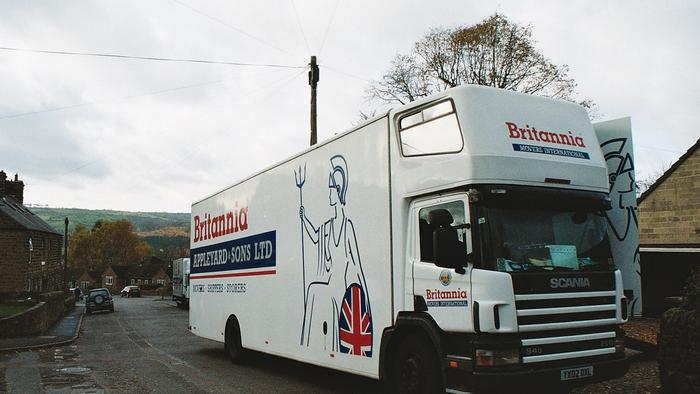 Scania Removal Van Derbyshire to  Britannia Appleyards Store @ Rotherham