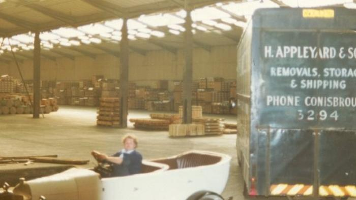 Harry Appleyard 1970s with furniture van loaded for Holland