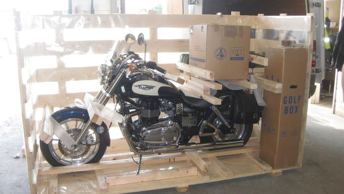 Shipping of Motorbike to Cyprus