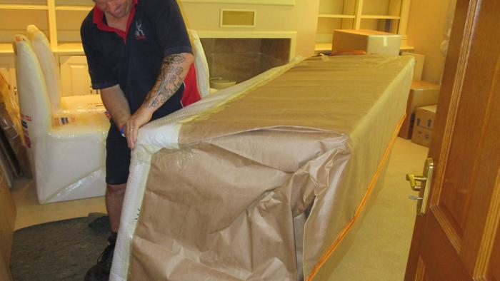 Wrapping of a Settee
