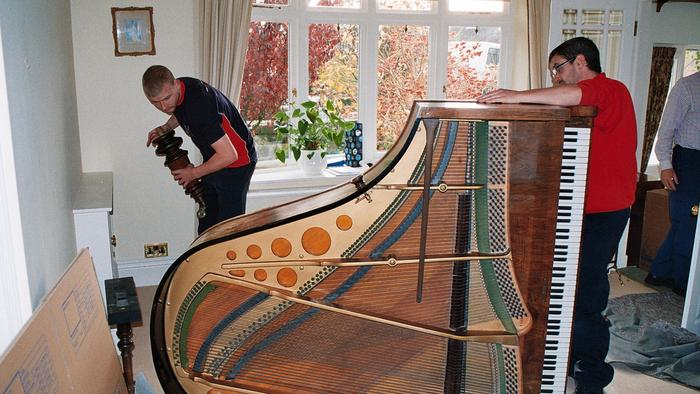 Appleyards of South Yorkshire prepare Grand Piano for move to France
