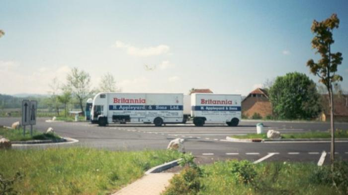 Volvo FL6 Appleyards Removals Road train France 1990s