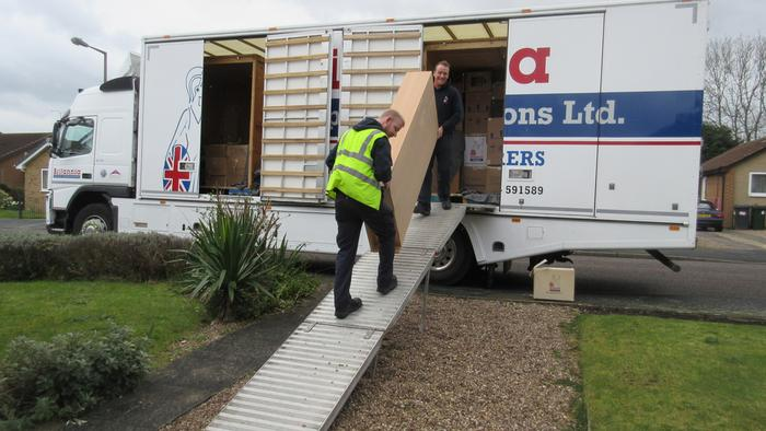 Moving from France to the UK via our storage facility