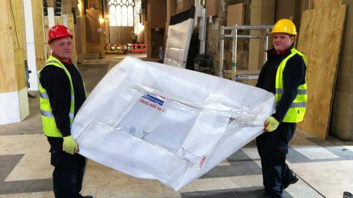 Sheffield Cathedral trust in our removal service