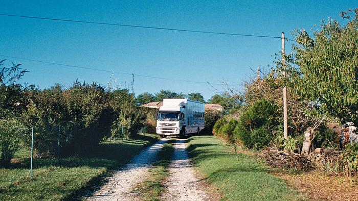 Narrow lane in France - Moving to and from the UK