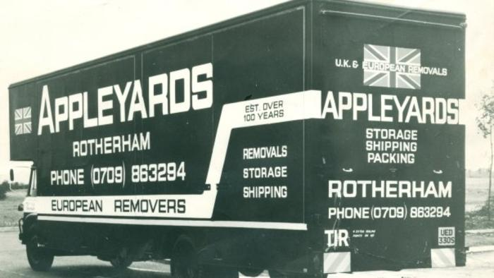 1970's Bedford TK removal van ... Designed especially for European removals