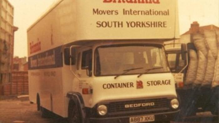 Bedford Tk removal van 1981 .. First in Britannia colours