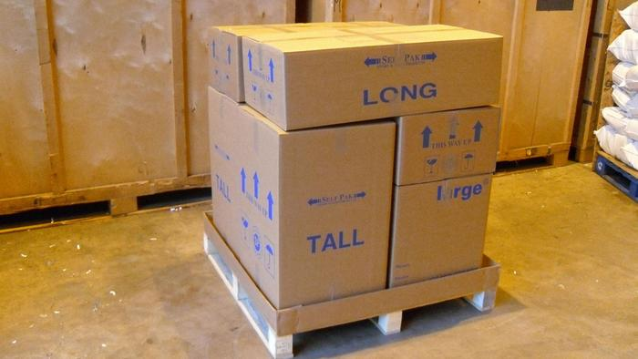 Goods can be delivered on pallets for us to put into our Storage facility